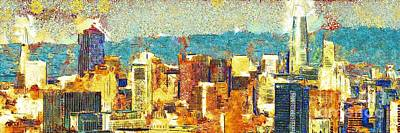 Photograph - Gustav Klimt Does The New San Francisco Skyline 20180511 Panorama by Wingsdomain Art and Photography