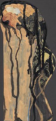 Art Print featuring the painting Gustav Klimt's Tears by Maya Manolova