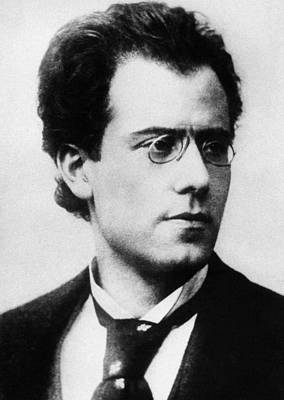 Black Curly Hair Photograph - Gustav Mahler by Austrian School