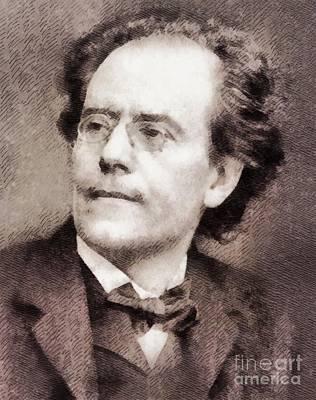 Gustav Mahler, Composer Art Print by John Springfield