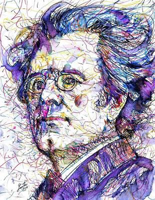 Drawing - Gustav Mahler Portrait.6 by Fabrizio Cassetta