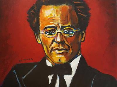 Wall Art - Painting - Gustav Mahler by Stuart Glazer