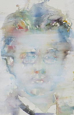 Painting - Gustav Mahler - Watercolor Portrait.1 by Fabrizio Cassetta
