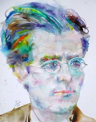 Painting - Gustav Mahler - Watercolor Portrait.3 by Fabrizio Cassetta
