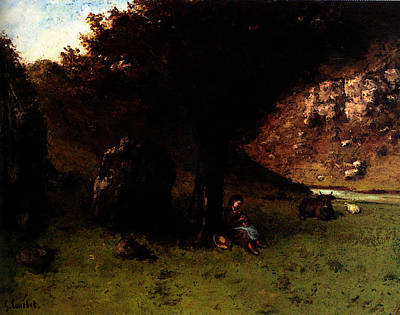Gustave Courbet La Petite Bergere   The Young Shepherdess Art Print by Gustave Courbet