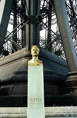 Photograph - Gustave Eiffel, Eiffel Tower - La Tour Eiffe, Paris, France 1978 by California Views Mr Pat Hathaway Archives