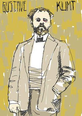 Klimt Digital Art - Gustave Klimt by H James Hoff
