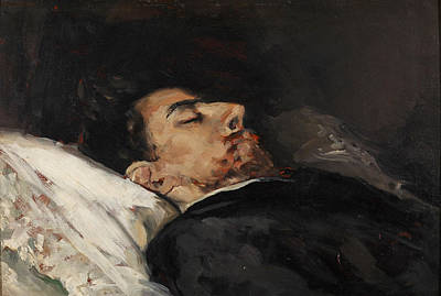 Painting - Gustavo Adolfo Becquer On His Death Bed by Vicente Palmaroli