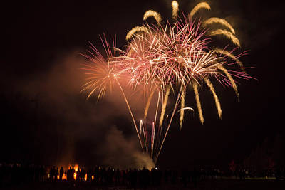 Photograph - Guy Fawkes Fireworks 1 by Inge Riis McDonald