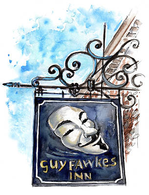 Painting - Guy Fawkes Inn In York by Miki De Goodaboom