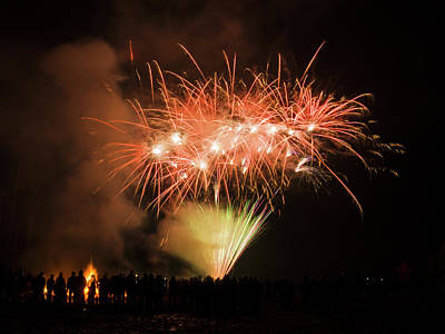 Photograph - Guy Fawkes Night 3 by Inge Riis McDonald