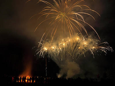 Photograph - Guy Fawkes Night 5 by Inge Riis McDonald