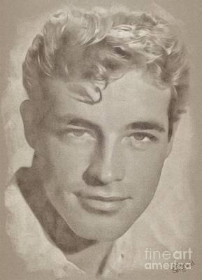 Guy Madison, Vintage Hollywood Actor Art Print