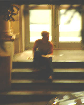 Photograph - Guy On A Stoop 1 by Stan  Magnan