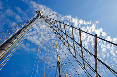Photograph - Guyed Masts by Keith Armstrong