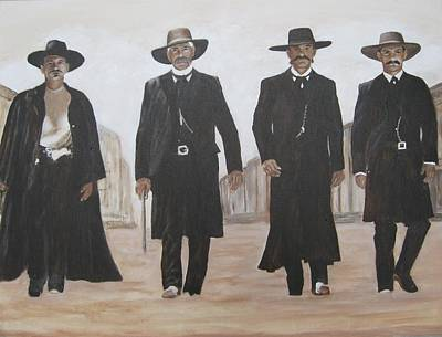 Val Kilmer Wall Art - Painting - guys from Tombstone by KC Knight