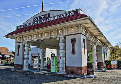 Photograph - Guy's Filling Station - Washington N J by Allen Beatty