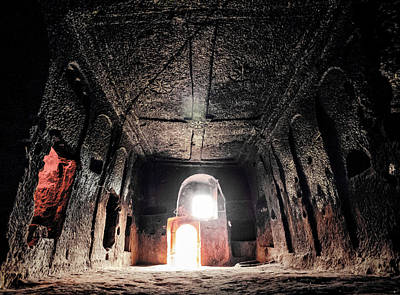 Photograph - Guzelyurt, Turkey - Underground Church by Mark Forte