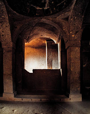 Photograph - Guzelyurt, Turkey - Underground Church Side Chapel by Mark Forte