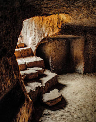 Photograph - Guzelyurt, Turkey - Underground Steps by Mark Forte