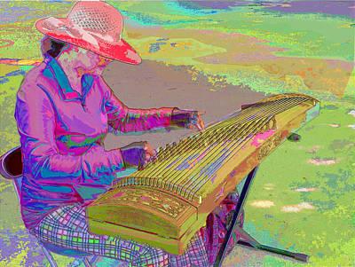 Photograph - Guzheng Busker by C H Apperson