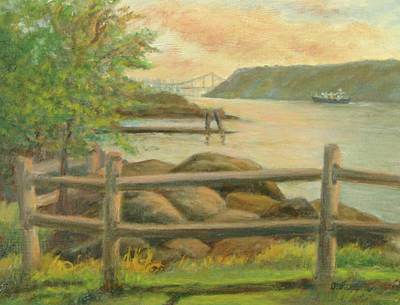 Gwb From Hastings Print by Phyllis Tarlow