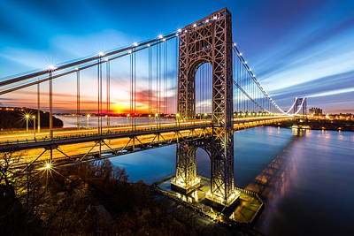 Politicians Royalty-Free and Rights-Managed Images - GWB Sunrise by Mihai Andritoiu