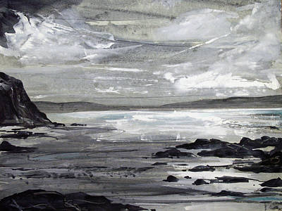 Seascape. Winter Painting - Gwithian Sands by Keran Sunaski Gilmore
