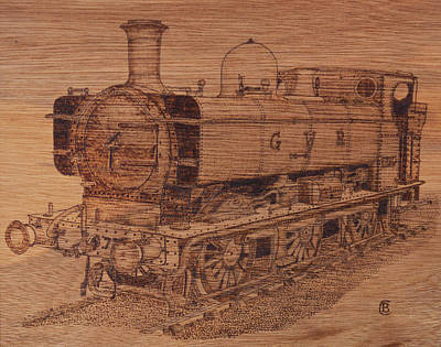 Pyrography Pyrography - Gwr 5700 Class Pannier Tank by Brian Case