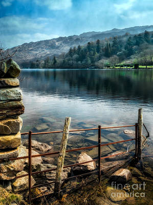 Dilapidated Photograph - Gwynant Lake by Adrian Evans