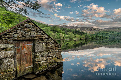 Old Houses Digital Art - Gwynant Lake Sunset by Adrian Evans