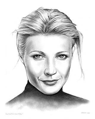 Food And Beverage Drawings - Gwyneth Paltrow by Greg Joens