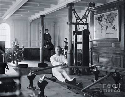 Rms Titanic Photograph - Gymnasium Of White Star Liner, Rms Titanic by The Titanic Project