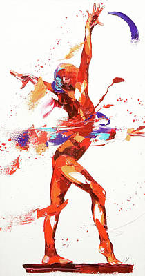 Beat Painting - Gymnast Four by Penny Warden