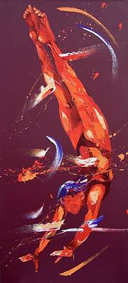 Athletic Painting - Gymnast Seven by Penny Warden