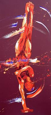 Olympian Painting - Gymnast Six by Penny Warden