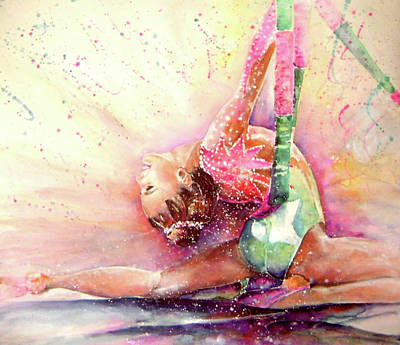 Painting - Gymnastic by Miki De Goodaboom