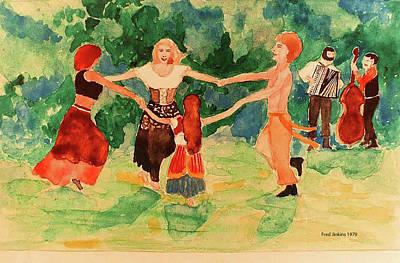 Mixed Media - Gypsies Dancing by Fred Jinkins