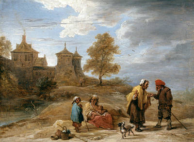 Photograph - Gypsies In A Landscape by David Teniers the Younger