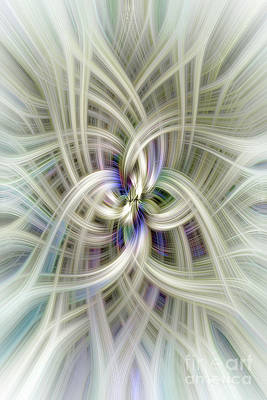 Digital Art - Gypsophila Twirl by Elaine Teague