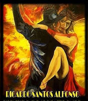 Firedancer Painting - Gypsy   Soul- Fire by Ricardo Santos-alfonso
