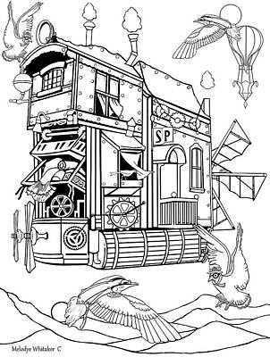 Drawing - Gypsy Airlines by Melodye Whitaker