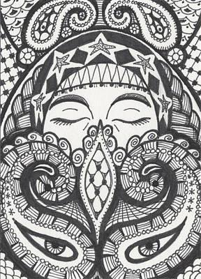 Wall Art - Drawing - Gypsy by Amy S Turner