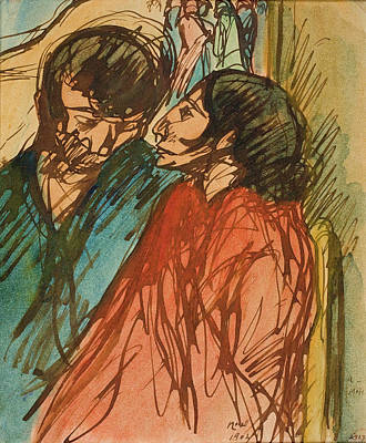 Drawing - Gypsy Couple by Isidre Nonell
