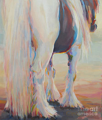 Gypsy Vanner Horse Painting - Gypsy Falls by Kimberly Santini