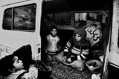 Gypsy Photograph - Gypsy Family by Sahin Avci
