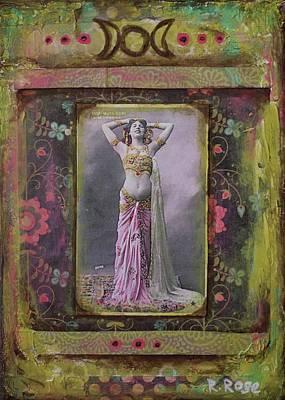 Dancer Mixed Media - Gypsy Goddess by Rachael Rose Zoller