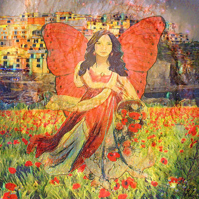 Painting - Gypsy Mother In Italy by Amelia Carrie