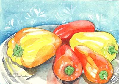 Painting - Gypsy Peppers by Helena Tiainen