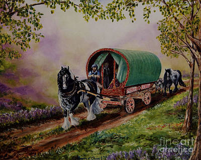 Morn Painting - Gypsy Road by Ruanna Sion Shadd a'Dann'l Yoder